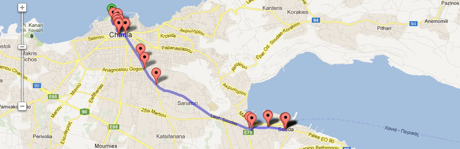 How to reach our hotel from the port of Souda: